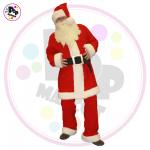 Božičkov kostum. Kostum je primeren za animatorje višine 175 cm -  185 cm.